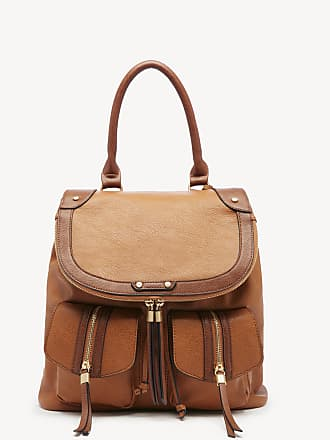Sole Society Womens Happy Backpack Vegan Brown Combo One Size Vegan Leather From Sole Society