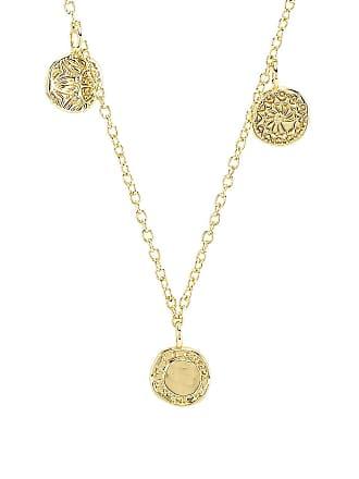 Gorjana Cruz Mixed Coin Necklace in Metallic Gold