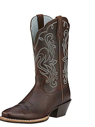 b1fdca41f40 Ariat Womens Legend Western Boot Brown Oiled Rowdy Size 9 M Us