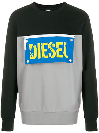 Diesel logo patch sweatshirt - Black