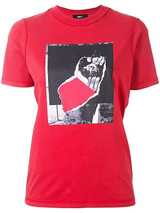 Yang Li printed T-shirt - Vermelho