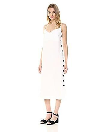 addbeb49e0b Mara Hoffman Womens Heidi Button Side Spaghetti Strap Shift Dress, White,  Small
