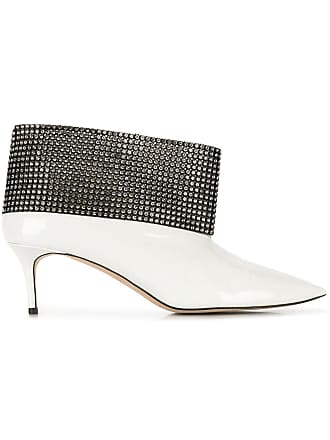Christopher Kane Ankle boot com cristais - Branco