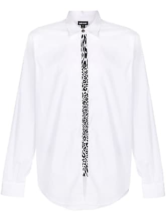 Just Cavalli Camisa com detalhe de leopardo - Branco