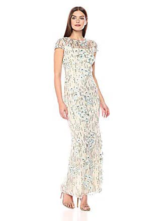 5b66b6d1c40 Alex Evenings Womens Cap Sleeve Column Dress with 3D Flower Detail