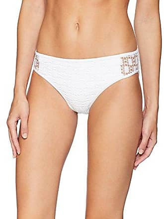 975c02c28c6 Kenneth Cole Reaction Womens Crochet Hipster Bikini Swimsuit Bottom, White,  Large