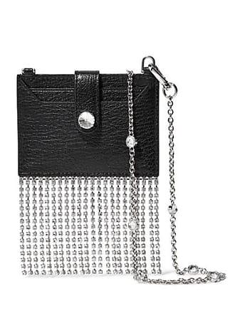 3b69267af6f3 Miu Miu Madras Crystal-embellished Textured-leather Shoulder Bag - Black