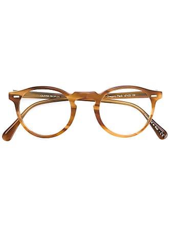 Oliver Peoples Óculos de grau redondo - Marrom