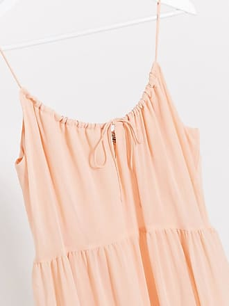 Pimkie tiered strappy maxi dress in pink