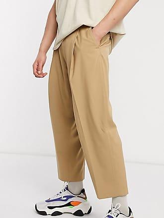 Reclaimed Vintage Reclaimed vintage wide leg smart trousers-Brown