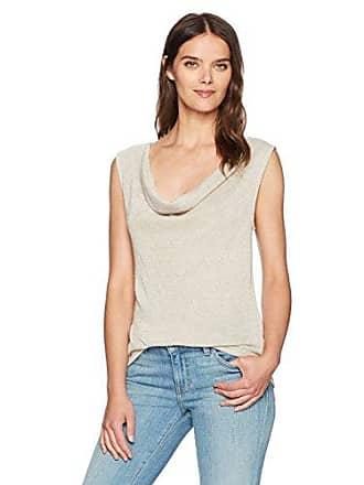 Three Dots Womens [Shimmer Sweater Knit Cowl [Loose] + [Short] + [top], Natural, Medium