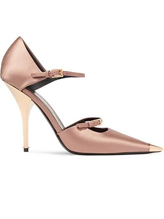Tom Ford Satin Mary Jane Pumps - Neutral