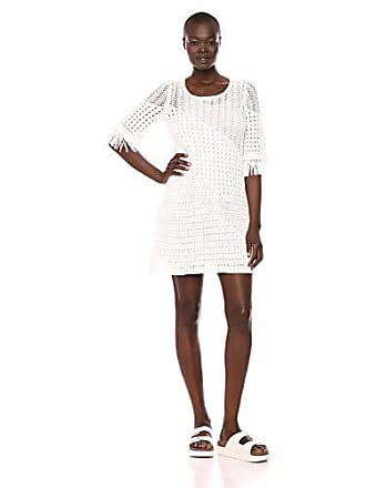 Nic+Zoe Womens Beach Stroll Dress, Paper White, Medium