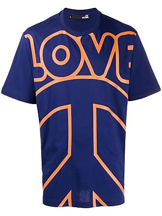 Love Moschino logo print T-shirt - Azul