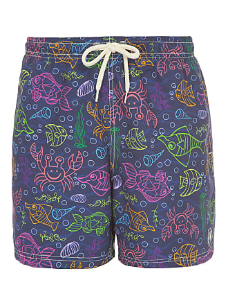 PURPLE YELLOW SHORT MASCULINO DARK OCEAN - AZUL