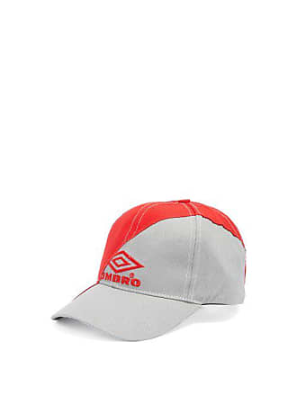 VETEMENTS X Umbro Logo Embroidered Canvas Cap - Womens - Grey Red 6213105ee0fd