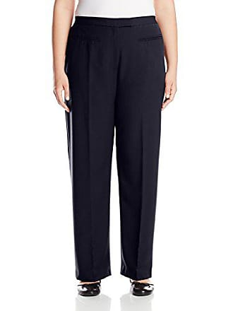 Ruby Rd. Womens Plus-Size Flat Front Easy Stretch Pant, Navy, 24W