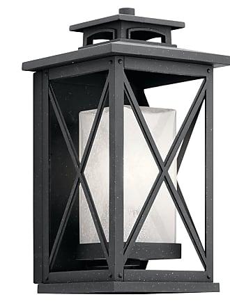 Kichler Piedmont Outdoor Wall 1 Light in Distressed Black
