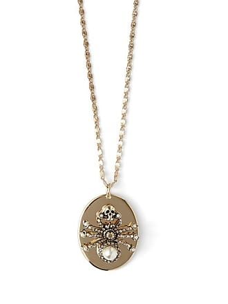 a473ae73c Alexander McQueen Alexander Mcqueen - Spider Crystal And Pearl Necklace -  Womens - Gold