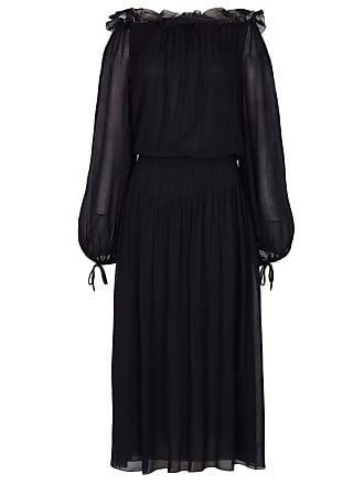 5aecd561dc Dior 1970s Christian Dior Boutique Couture Label Black Silk Chiffon Dress