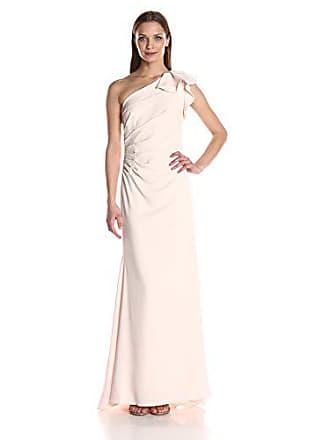 148a9e1959de Carmen Marc Valvo Womens Long one Shoulder Gown w.Ruffle Detail, Blush, 14