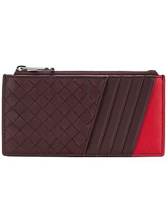 Bottega Veneta two-tone woven wallet - Red