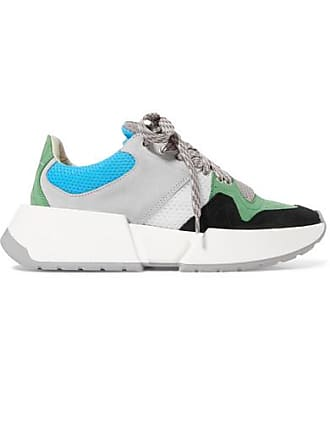 Maison Margiela Runner Mesh And Nubuck Sneakers - Gray
