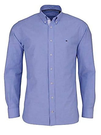 b1e300250cd331 Tommy Hilfiger Organic Oxford, Camicia Uomo, Blu (Shirt Blue 474), 46