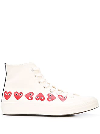 Comme Des Garçons x Converse Chuck Taylor multi heart 1970s high-top sneakers - White