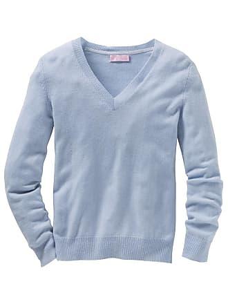 V- Pullover in Hellblau  Shoppe jetzt bis zu −75%   Stylight 00dfb04e13