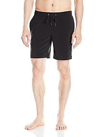 99c6f9bce0 Onia Mens Charles 7 Inch Solid Stretch Swim Trunk, Black, X-Large
