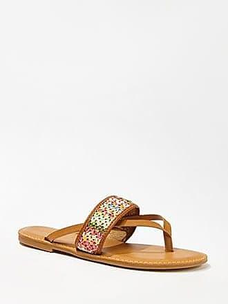 Forever 21 Forever 21 Crochet Thong Sandals Tan/multi