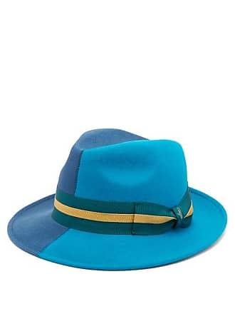 f46b7ea43cbaa0 Borsalino Alessandria Two Tone Felt Hat - Mens - Blue Multi
