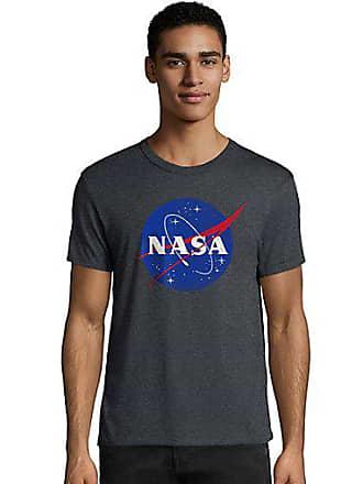 Hanes Mens NASA Meatball Graphic Tee Meatball/Slate Heather XL