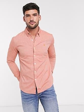 Farah Steen - Schmal geschnittenes, langärmliges Hemd-Orange