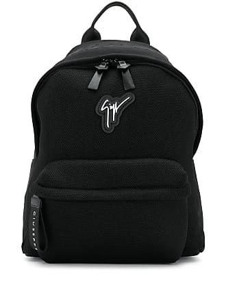 Giuseppe Zanotti mesh logo backpack - Black