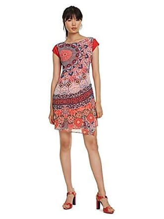 244293d45106 Desigual Dress Short Sleeve Japan Woman Red