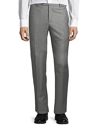 Zanella Large-Plaid Wool Trousers