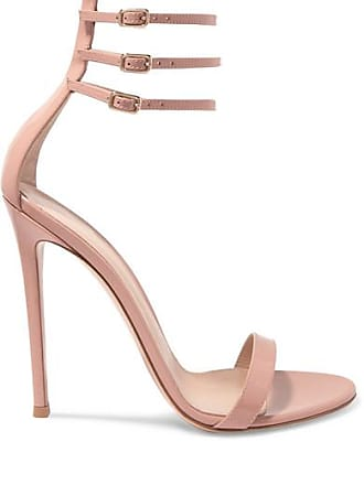 Gianvito Rossi Lacey 115 Patent-leather Sandals - Neutral