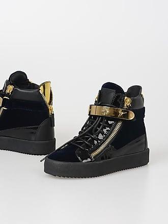 Giuseppe Zanotti Sneakers VERONICA in Pelle e Velluto taglia 35 94f74618cd8