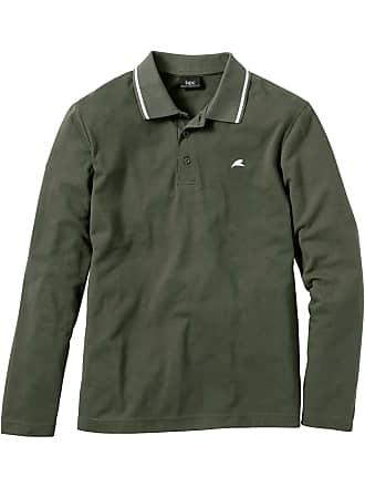 Bonprix Bonprix - Polo manches longues Regular Fit vert pour homme a31776141430