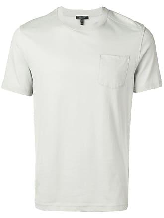 Belstaff Camiseta com patch de logo - Cinza