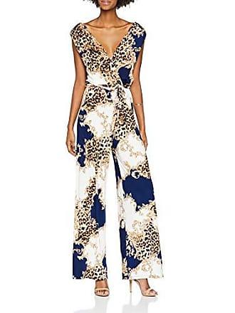 9293fbfcffe3 Quiz Cream   Navy Leopard Print, Combinaison Femme, Multicolour, 38(Taille  du