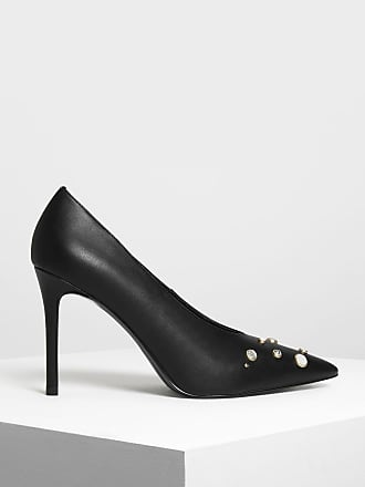 Black D'Orsay Kitten Heel Pumps | CHARLES & KEITH EU