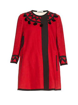 Vita Kin Mira Tassel Embellished Linen Coat - Womens - Red
