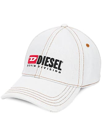 Diesel embroidered denim baseball cap - Neutrals