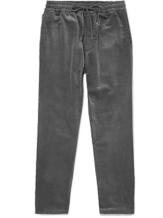 Ymc You Must Create Stretch-cotton Corduroy Drawstring Trousers - Charcoal