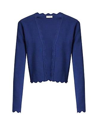 Altuzarra Hughes Open Front Scallop Edged Cardigan - Womens - Blue