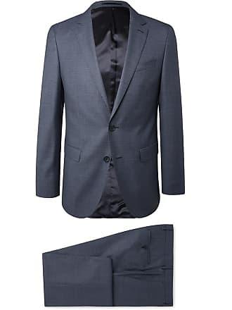 8d7b339b HUGO BOSS Navy Slim-fit Puppytooth Virgin Wool Suit - Navy