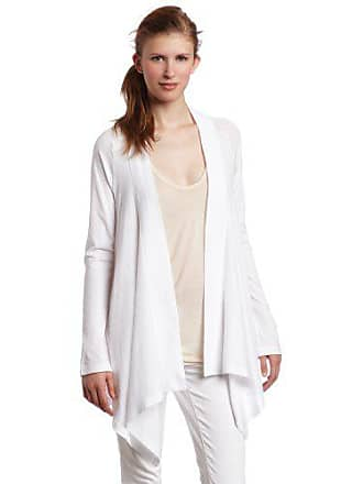 Splendid Womens Very Light Jersey Drape Cardigan, White, X-Small